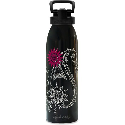 Camp and Hike Quench your thirst with a sip of cool water from the Liberty Bottleworks Abigail Aluminum water bottle with Sport Top. Made in the United States from 100% recycled aluminum; all materials used are 100% BPA free. Use the food-grade polypropylene sport top with the included straw installed for easy drinking-just flip the bite valve up, bite and sip. If you prefer lifting and tipping, you can remove the straw and drink from the bite valve, or remove the cap entirely and drink straight from the bottle. Food-grade silicone O-ring in the cap limits leaks. Food-grade polyester powder coat on the inside of the bottle is BPA free. Liberty Bottleworks Abigail Aluminum water bottle with Sport Top holds 24 fl. oz. - $12.93