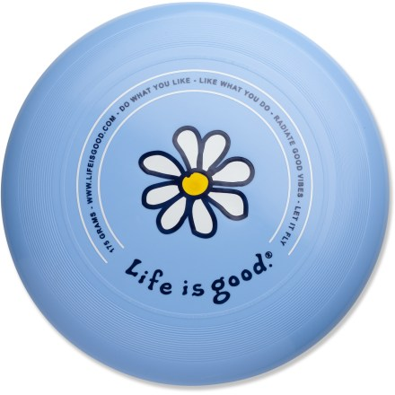 Camp and Hike The official 175g, world-class model used by the Ultimate Players Association. Let it fly! Disc combines excellent quality and consistent flight with bright fun colors and the Life is good(R) logo. - $5.83
