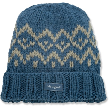 Ski The Life is good(R) Momma's Boy Knit hat goes on easy for all-day warmth. Cozy acrylic keeps you warm without being itchy or uncomfortable. Closeout. - $10.83