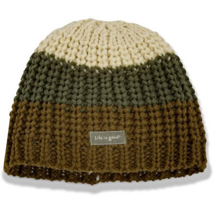 Ski Because playing in the snow is fun, Life is good(R) makes the Winter Bliss hat. Cozy acrylic keeps you warm without being itchy or uncomfortable. Closeout. - $8.83