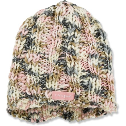 Ski Featuring a fun, loose knit, the Melange Knit beanie from Life is good(R) is sure to please. Acrylic wicks moisture away and dries quickly. Closeout. - $13.83