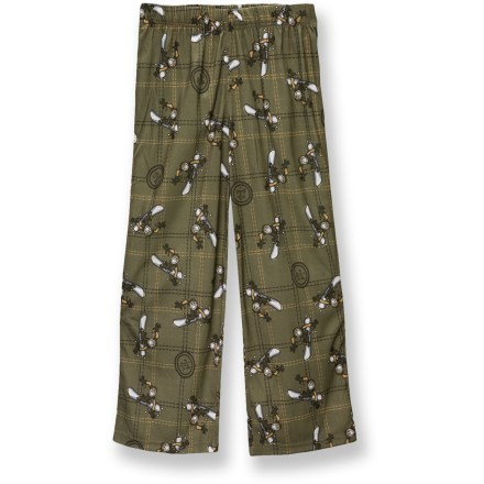 The Life is good(R) Sleep pants for boys are perfect for hanging out on chilly mornings. Polyester fabric is breathable and soft for easy comfort. Features a button fly and elastic waist. Closeout. - $9.83