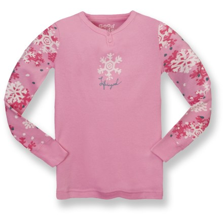 The Life is good(R) Snug Fit sleep set for girls features a cozy long-sleeve top and pajama pants, with printed fabrics sure to charm her. Cotton is naturally soft, breathable and comfortable. Subtle ribbing in fabric adds slight stretch. Close fit keeps warmth next to her body. Closeout. - $13.73