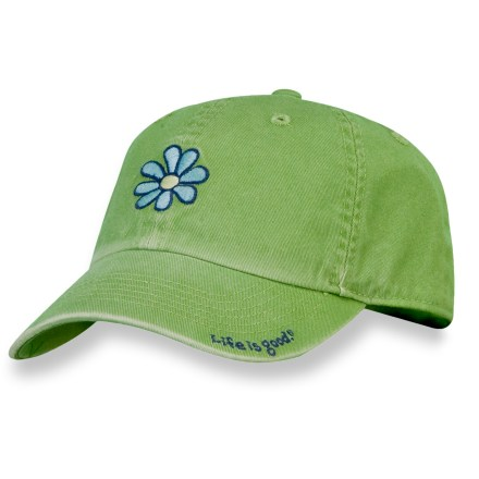 The Chill cap from Life is good(R) goes on easy for all-day wear. The Chill cap is garment-washed to create a comfortable weathered look and feel. Low-profile fit is perfect for women. Rear snap-and-tuck buckle creates an adjustable fit for heads of all shapes and sizes. Closeout. - $7.83