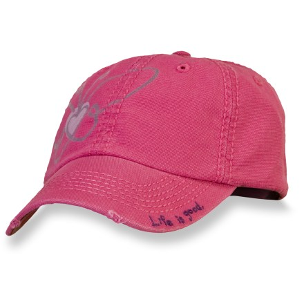 The Life is good(R) Good Karma(TM) Organic Chill cap is the solution to a bad hair day. Organic cotton fabric breathes well and is soft against skin. Adjustable back secures the fit. Closeout. - $7.83