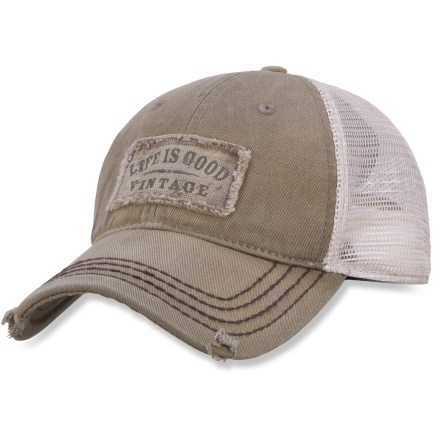 The Life is good(R) Mesh Back Chill Cap brings casual style to any situation. Breathable cotton front panel and nylon mesh back panel. Adjustable tab on back ensures a sure fit. Closeout. - $9.83