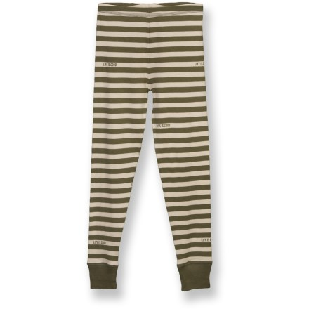 The Life is good(R) Snug Fit sleep set for boys features a cozy long-sleeve top and pajama pants, with printed fabrics sure to charm him. Cotton is naturally soft, breathable and comfortable. Subtle ribbing in fabric adds slight stretch. Close fit keeps warmth next to his body. Closeout. - $13.73