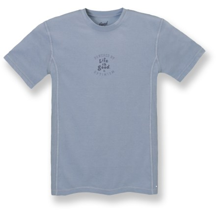 Fitness The Life is good(R) Good Move(TM) Action T-shirt works as hard as you do. Cotton/polyester blend fabric wicks moisture better than traditional cotton shirts; touch of spandex means shirt moves with you. Flatlock seams offer flexibility and comfort. Fitted. Closeout. - $15.83