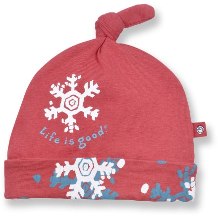 The Life is good(R) Knotted Knit hat keeps your little one warm. Cotton fabric is naturally soft, breathable and comfortable. Closeout. - $5.83