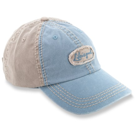 Entertainment The Life is good(R) Colorblock Chill cap is simple, sweet and just plain fun to wear! Made with soft, garment-washed cotton, this durable ball cap is extremely comfortable and requires little to no break-in time. Adjustable rip-and-stick strap dials in the fit. Closeout. - $5.83