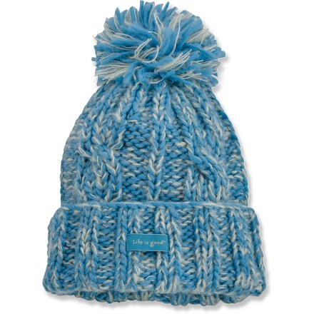 Ski The Life is good(R) Pom-Tastic hat offers a fun design and great fit that's sure to please anyone headed into the cold. Cozy acrylic keeps you warm without being itchy or uncomfortable. Closeout. - $11.83