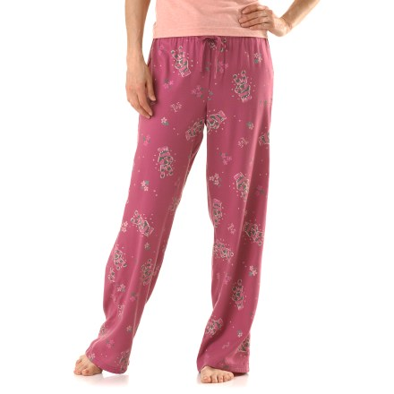 The women's Life is good(R) sleep pants welcome sweet slumber with cute and cozy style. Soft, lightweight pants feature an easy-wearing cut with a fabric-covered, elastic waist and drawcord. Cotton is breathable and soft for easy comfort. - $15.93