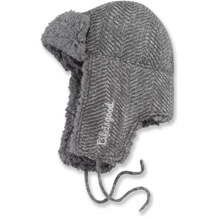 Entertainment The Life is good(R) Herring Bone Head hat will keep your noggin warm and wrapped in classic style. Acrylic exterior is breathable and durable. Soft faux fur lines the interior and earflaps. - $17.93