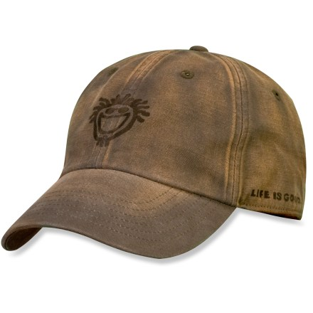 The Life is good(R) Sunwashed chill cap is ready for laid-back days. Cotton fabric is naturally soft, breathable and comfortable. Adjustable tab on back supplies a secure fit. Closeout. - $9.83