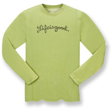 The Life is good(R) Fade Out Long-Sleeve T-shirt lets you spread love and happiness no matter where you go. Cotton fabric is naturally soft, breathable and comfortable. Cool fade wash for a worn and faded look. Raw edges at cuffs and hem. Decorative coverstitch details. Closeout. - $15.83