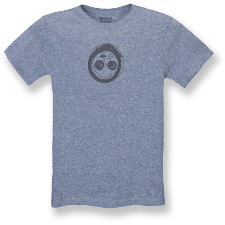 Fitness The Life is good(R) Raw Edge Organic T-shirt displays your love of biking with a fun front graphic. Organic cotton/cotton blend offers natural comfort; washed for softness. Raw edges at cuffs and hem. Semifitted. Closeout. - $13.83