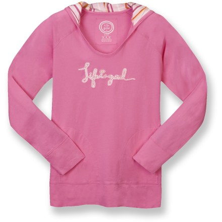 The Siesta Pullover hoodie from Life is good(R) swaddles you in soft, warm cotton. Cotton is naturally soft, breathable and comfortable. Front on-seam pockets offer a warm spot for your hands. Floral print on shoulder and sleeve offers a touch of style. Life is good(R) Siesta Pullover hoodie features a relaxed fit. Closeout. - $17.83