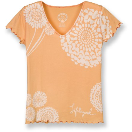 The Life is good(R) Siesta Sleep Vee T-shirt is irresistibly soft. Soft cotton fabric is naturally breathable. Lettuce edge at hem and cuffs. Semifitted. Closeout. - $9.83