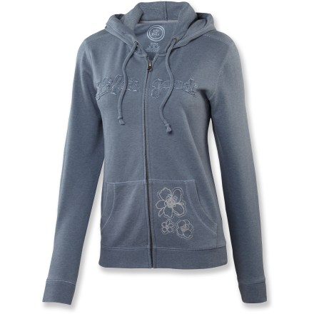 Nothing says comfort quite like the Life is good(R) French Bliss Zippity Hoody. Heathered french terry provides a soft hand and well-loved look from the get go. Relaxed fit. - $45.93