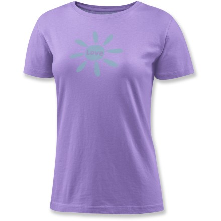 "As far as tees go, the Life is good(R) Love Creamy T-shirt just might be the cream of the crop. ""Creamy"" sueded cotton is garment-washed for pleasing softness from the get go. Relaxed fit. - $21.93"