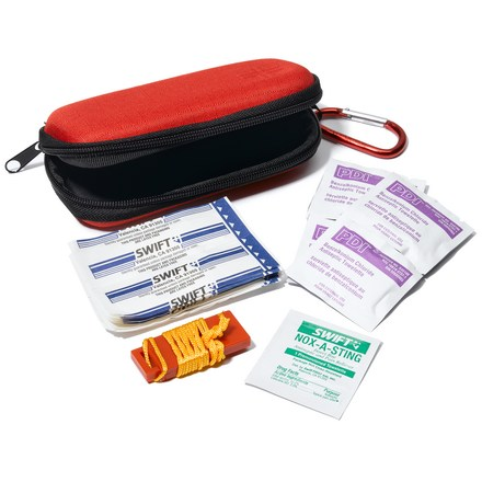 Camp and Hike This handy first aid kit has the essentials to take care of those unexpected cuts, scrapes and stings encountered along the trail. - $4.93