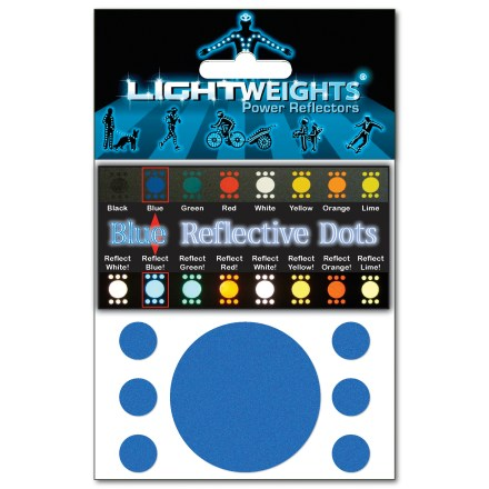 Fitness Lightweights Reflective Dots(TM) contains 7 bright, reflective, self-adhesive dots manufactured by 3M Scotchlite(TM). - $6.00