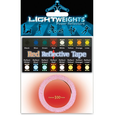 Fitness Lightweights Red Reflective Tape(TM) contains 100 in. x 3/8 in. of reflective, self-adhesive tape manufactured by 3M Scotchlite(TM). - $15.00