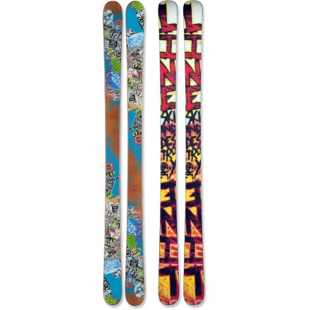 Ski Meant for the creative freestyler who loves skiing switch, the Line Afterbang skis jib benches, air over stairs and grind ledges. - $199.83