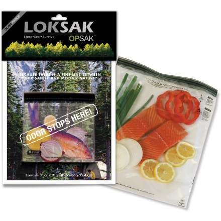 Camp and Hike Certified and field tested to be odor-, humidity-, vapor- and leakproof, these LOKSAK bags ensure secure and undisturbed closure. - $6.93