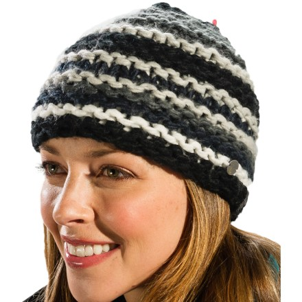 Entertainment Pull on the Lole Chunky beanie before heading out the door for a stroll through town. Soft blend of acrylic, nylon, lambswool and cotton keeps your head warm. - $14.83