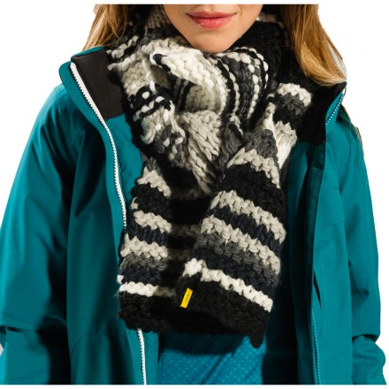 When the winter winds are howling you'll want to wrap up in the warmth of the Lole Chunky scarf. Soft blend of acrylic, nylon, lambswool and cotton keeps you comfortable. - $19.83