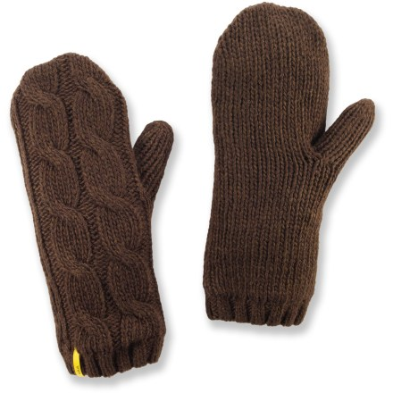 The Lole Cable mittens provide comfortable warmth on chilly winter days. - $9.83