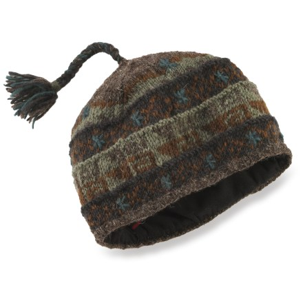 Ski Handcrafted in Nepal, the Lost Horizons Turk's hat keeps your dome warm during the frigid winter months. Wool is a natural insulator: warm, soft and breathable to keep you comfortable in the great outdoors. Polyester fleece lining is soft against your skin. Dry clean or hand wash in cold water; lay flat to dry. Special buy. - $12.83