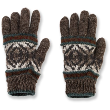 Ski Whatever horizons you've set your sights on, these hand-knit Lost Horizons Khumbu gloves keep your hands toasty for the ride. Wool is a natural insulator: warm, soft and breathable to keep you comfortable in the great outdoors. Handmade in Nepal. Special buy. - $12.83