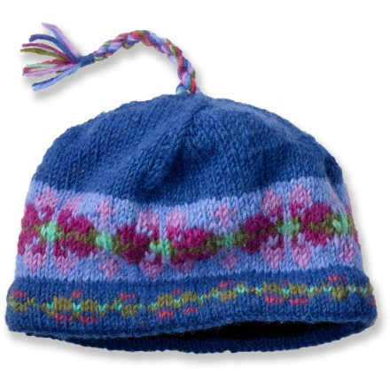 Ski This Lost Horizons Pullover hat offers warmth, style and comfort. Plus, it's handmade in Nepal. Features an all-wool shell with handsome colors in strong horizontal bands and a multicolored, braided topknot. Microfleece lining wraps the head in itch-free softness and warmth. Special buy. - $11.83