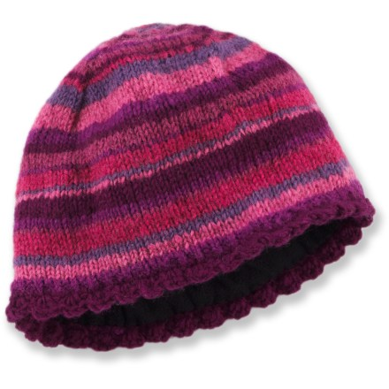 Ski Colorfully designed and finely crafted, this Lost Horizons Chimi Stripe hat is handknit by artisans living in the Katmandu Valley of Nepal. Warm wool outer layer is great for cold-weather activities. Itch-free fleece lining enhances warmth. Dry clean or hand wash in cold water; lay flat to dry. Special buy. - $12.83