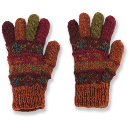 Ski Straight from the Himalayas, these Lost Horizons Turk's gloves keep your fingers cozy as you forge your path. Wool is a natural insulator: warm, soft and breathable to keep you comfortable in the great outdoors. Handmade in Nepal. Special buy. - $12.83