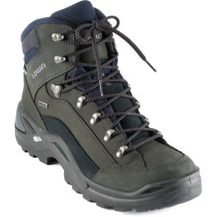 Camp and Hike With abundant comfort and support at a low weight, the men's waterproof Lowa Renegade GTX Mid hiking boots are well-suited for long day hikes and weekend backpacking. - $230.00