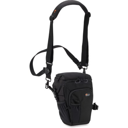 Camp and Hike Designed for serious outdoor photographers, the Lowepro Toploader Pro 70 AW camera case offers a contoured, asymmetric shape and all-weather cover that help protect a DSLR and 24 - 70mm lens. - $59.93
