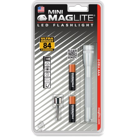 Camp and Hike The compact Maglite Mini Maglite 2 AAA LED flashlight has the same great look and feel as the original Mini Maglite but with a brighter, more efficient beam. - $17.95