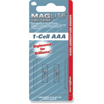 Camp and Hike Use these replacement bulbs with your Maglite Solitaire(R) flashlight (sold separately). - $2.50
