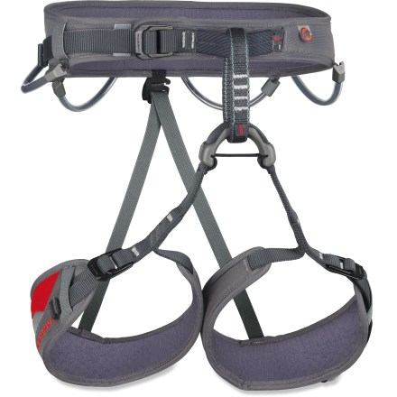 Climbing From alpine peaks to the climbing crag, the Mammut Ophir 3 Slide climbing harness gives you the comfort and features needed to have a fun time on the rock. - $29.93