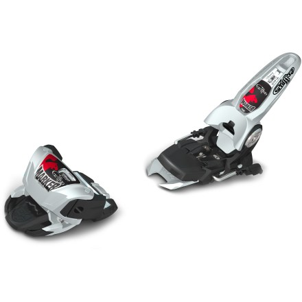 Ski Marker Griffon B110 downhill ski bindings help steer powder skis into the best stashes time and time again. Similar in the design to the Jester binding, the Marker Griffon B110 downhill ski bindings are built to accommodate skiers of 80 - 250 lbs. and offers a DIN of 4 - 13. Composite toe and heel cups keep binding weight to a minimum yet are still designed with a wide footprint for excellent performance on fat skis. Cross-axis toe spring and compact mounting pattern create a short binding that enables fluid spins and twists. Triple Pivot Elite toe has high energy absorption to prevent prerelease. Lightweight Inter-Pivot heel focuses power in the direction of the boot sole and offers superior holding power and energy transfer. Freeride brake ensures adequate clearance when skiing backward. Excellent boot-to-binding contact delivers direct power transmission to the ski. Heel is designed without pull-out screws to maximize durability. Stainless-steel antifriction device allows essential lateral boot movement despite the condition of dirty or worn soles or negative sliding friction. Antifriction device adjusts to the height of alpine boots. 110mm brake fits many powder skis. Mounting configuration of the Marker Griffon B110 downhill ski bindings requires a 76mm minimum ski width. - $136.83