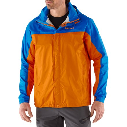 The men's Marmot PreCip all-season rain jacket is not only lightweight and compressible, but renowned for its water shedding, breathable performance and reliable comfort. - $23.83