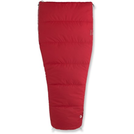 Camp and Hike The warm, compressible Marmot Mavericks 40 sleeping bag is a smart choice to pack along for summertime sleeping under the stars, whether in the backyard or at a favorite campground. - $53.93