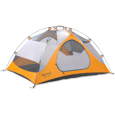 Camp and Hike The Marmot Limelight 3P tent offers 3 backpackers a comfortable space and tough yet lightweight construction. Limelight also offers great value as it comes complete with footprint and gear loft! - $279.00