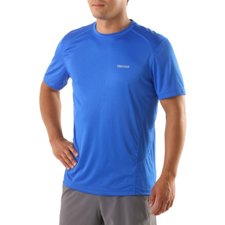 Fitness The Marmot Windridge T-shirt helps keep you comfortable as you cruise mountain trails. - $20.93