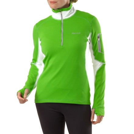 Fitness The Marmot Deviate Half-Zip shirt for women takes the chill out of the morning routine. - $65.93