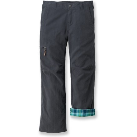 Camp and Hike The Marmot Piper flannel-lined pants offer girls warmth and cute comfort when playing at the park on a cold day or taking a winter hike. Light, durable nylon shell fabric features a Durable Water Repellant finish and a UPF rating of 50+. Soft flannel lining and a brushed tricot waistband offer cuddly comfort. The Marmot Piper flannel-lined pants feature hand pockets and a zippered thigh pocket; internally adjustable waist and grow cuffs keep up with a growing child. - $31.83