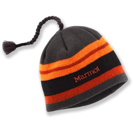 Entertainment The Marmot Striper hat for boys shows that stripes make everything more fun-especially when playing in the snow. - $11.83